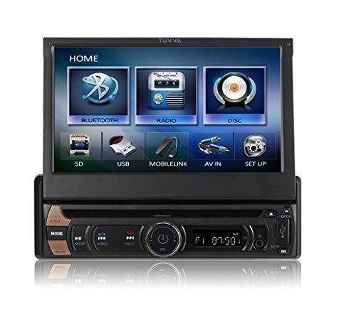 TUVVA-KSD7813-INDASH-Auto-Multimedia-Receiver-mit-MHL-Smartphone-Konnektivitt-Radioblende-1-Bluetooth-motorisiert-Touchscreen-DVDCDUSBSDAV-inMP4MP3-Player-RDS-Radio-Bluetooth-Audio-Streaming-freisprec