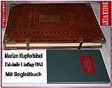 """Merian Kupferbibel. Biblia 1630. Das Newe Testament (Das Neue Testament). Durch Herrn Martin Luther verteutscht. Faksimile der Ausgabe 1630. + Begleitband """"Exklusivedition"""""""