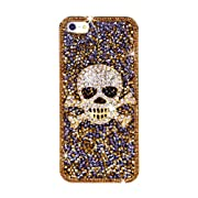 NOVA CASE Punk Series 3D Bling Crystal iPhone Case for iPhone 5/5S