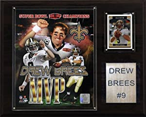 NFL Drew Brees New Orleans Saints Super Bowl MVP Plaque by C&I Collectables