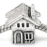 Charm Buddy Silver Tone House Home Charm Pendant Bead Fits Pandora Troll Bracelets Necklaces Charm Beads