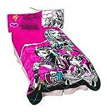 Mattel Microraschel Blanket, 62-Inch by 90-Inch, Monster High Fierce