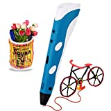 Soyan 3D Printing Pen for Doodling, Art & Craft Making, 3D Modeling and Education, Comes with 30 Grams 1.75mm ABS Filament (Blue)