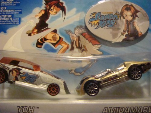 Hot Wheels Shaman King Dual Set = YoH / AmiDaMarU Custom Exclusive Cars Yu-Gi-Oh Includes Sticker Scale 1/64 1998 Collection