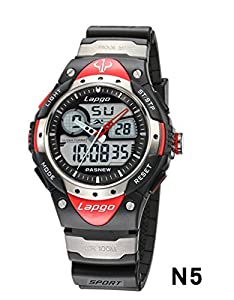 Ryanwayland XMAS Gift Fashion Brand PASNEW Waterproof Alarm Date Back light Stop watch Boys Girls Sport Wrist Watch Red