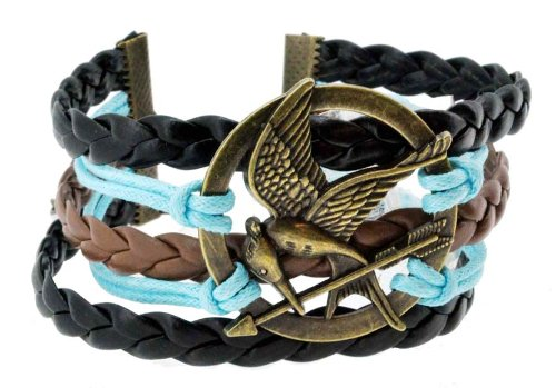 The Hunger Games Mockingjay Bracelet, Zen Bracelet, Leather Bracelet