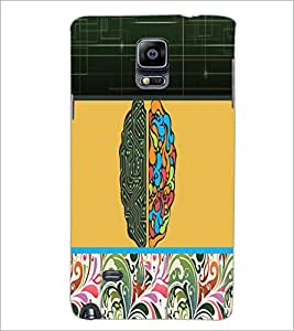 PrintDhaba Abstract Design D-5738 Back Case Cover for SAMSUNG GALAXY NOTE 2 (Multi-Coloured)