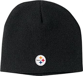 NFL Men's End Zone Uncuffed Knit Hat - K173Z (Pittsburgh Steelers, One Size Fits All)