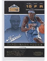 Carmelo Anthony Denver Nuggets (Basketball Card) 2012-13 Panini Contenders Throwback Rookie #20 discount price 2015