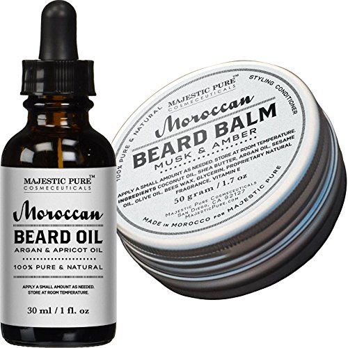Majestic-Pure-Beard-Oil-Beard-Balm-Set-17-oz-1-oz-All-Natural-Beard-Conditioner-Style-Shape-and-Moisturize-Beard-Mustache-Skin-Great-Gifts-For-Men