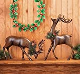 Bowing And Standing Reindeer Christmas Holiday Home Décor