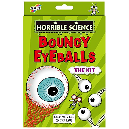 Galt Toys Horrible Science Bouncy Eye Balls - Juego de experimentación con ojos saltones