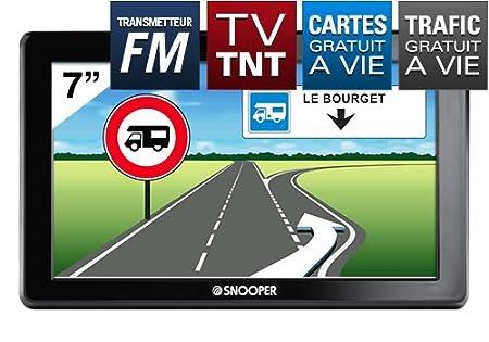 """Snooper CC8500: GPS Camping Car écran 7"""" avec télévision TNT, transmetteur FM et CARTE A VIE"""