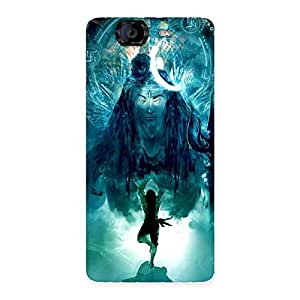 Delighted Power Shiva Back Case Cover for Canvas Knight A350