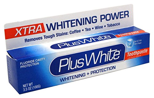 Plus White Xtra Whitening Every Day Whitening Toothpaste with Tartar Control, Cool Mint, 3.5 oz (100 g)