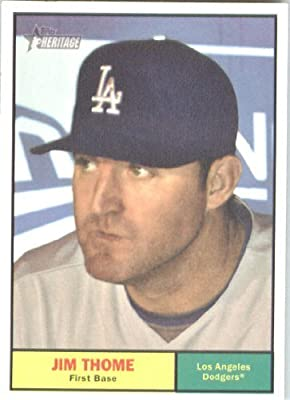 2010 Topps Heritage Baseball Card # 418 Jim Thome - Los Angeles Dodgers - MLB Trading Card