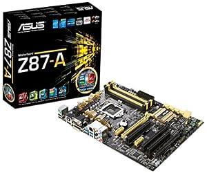 Asus Z87-A Mainboard Sockel 1150 (ATX, Intel Z87, 4x DDR3 Speicher, HDMI, DVI-D, RJ-45, 6x SATA III, 6x USB 3.0)