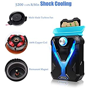 TekHome Super Vacuum Fan Laptop Cooler, Efficient Cooling Gaming Mate, High Compatibility w/ 4 Junction Plates, Adjustable Wind Speed, Fixing Glue, Power Saving, Make Your Laptop As Cool As A Cucumber.