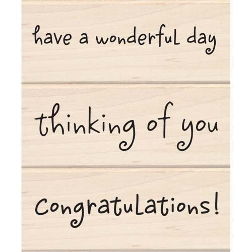 Inkadinkado Rubber Stamp - Have a Wonderful Day