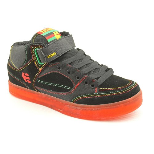 Etnies Number Mid Skate Shoes Black Youth Boys