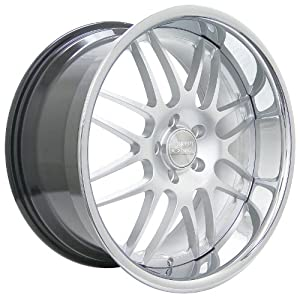 Concept One RS-8 (Series 701) Hyper Silver with Chrome Lip - 19 x 9.5 Inch Wheel