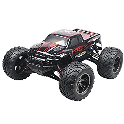 ToyJoy Foxx S911 Full Proportional 2WD Brush High Speed Monster Truck with 2.4GHz Radio Remote Control Charger Included 1/12 Scale with Waterproof Electronics Red