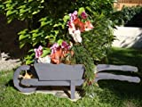 Brouette/brouette holzschubkarre-garten deko 110 cm bac à fleurs, pot hSC - 110-noir-