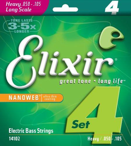 Elixir® Strings Nickel Plated Steel 4-String Bass Foundation Set With Nanoweb® Coating