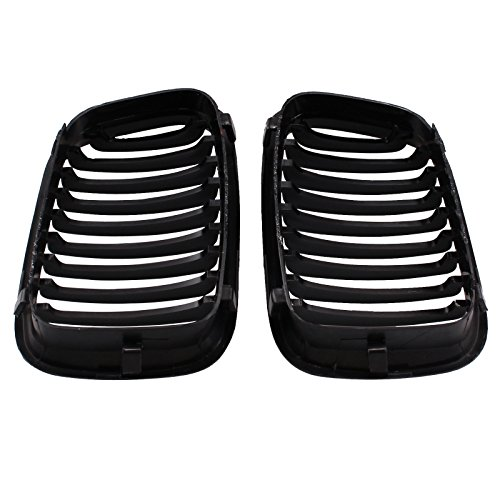 2x vorne Ersatz matt schwarz Nieren Kühlergrill Grill für BMW 1998-20013Serie Limousine E46320i 323i 325i 328i 330i 4D 4tür
