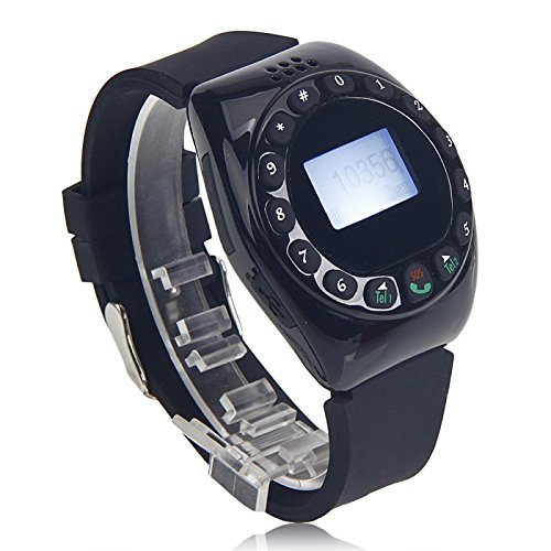 """Great Value Mq999 1.5"""" Gsm Quad Band Bluetooth Sd Card Support Watch Phone Black"""