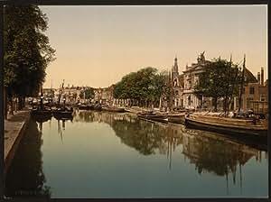 Photo: The Spaarne (canal), Haarlem, Holland