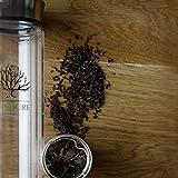 Tea Infuser - 15oz Loose Leaf Tea Cup, Fruit Tumbler, Glass Water Bottle and Travel Mug