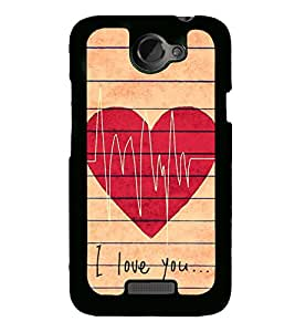 I Love You 2D Hard Polycarbonate Designer Back Case Cover for HTC One X :: HTC One X+ :: HTC One X Plus :: HTC One XT