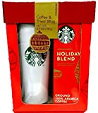 Starbucks Travel Mug & Coffee Gift Set-2015 Starbucks Holiday Blend Coffee Gift Set Packaged in Red Gift Box