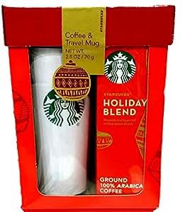 Amazon.com : Starbucks Travel Mug & Coffee Gift Set-2015 ...