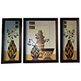 Positive Energy Canvas Hanging Wall Art Decorative Painting Frame (3pcs Set) D1