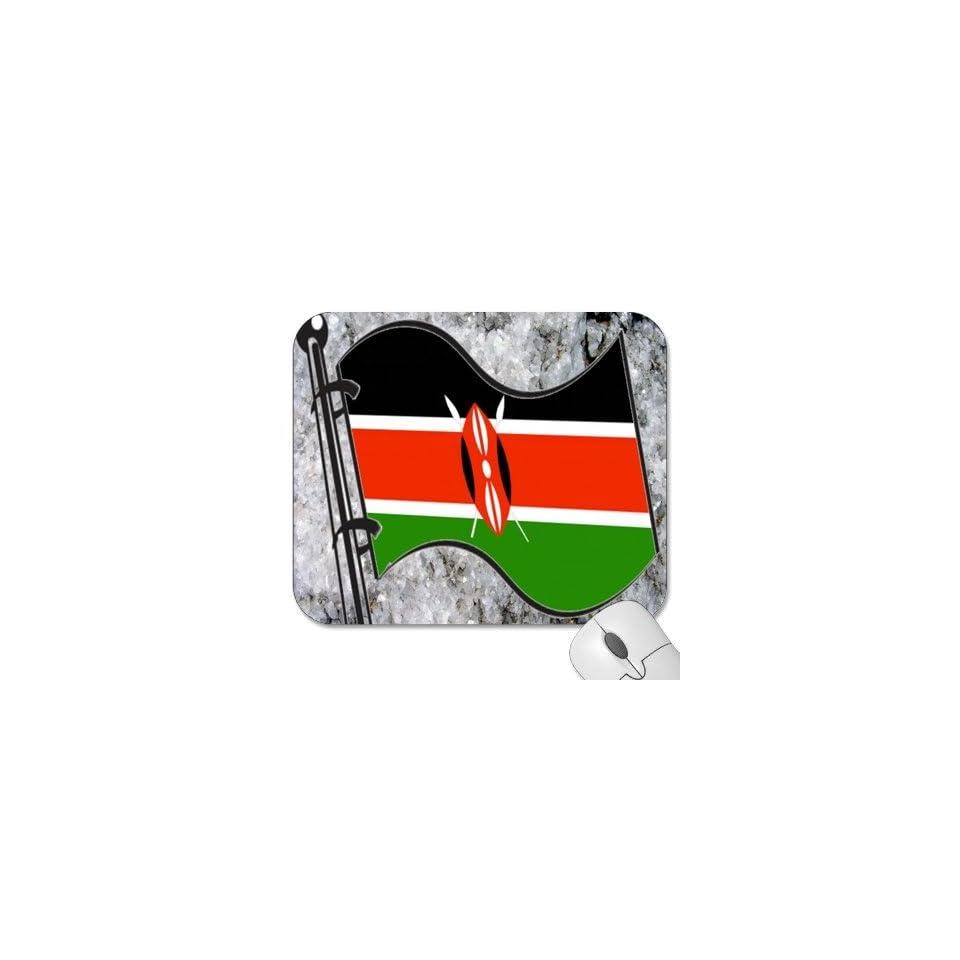 Mousepad   9.25 x 7.75 Designer Mouse Pads   Design Flag   Kenya (MPFG 103)