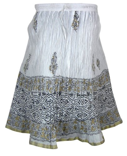 Printed Cotton Indian Multicolor Skirt for Girls India