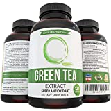 Green Tea Extract Supplement with EGCG for Weight Loss - Boost Metabolism & Promote a Healthy Heart - Natural Caffeine Source for Gentle Energy - Antioxidant & Free Radical Scavenger - 120 Capsules