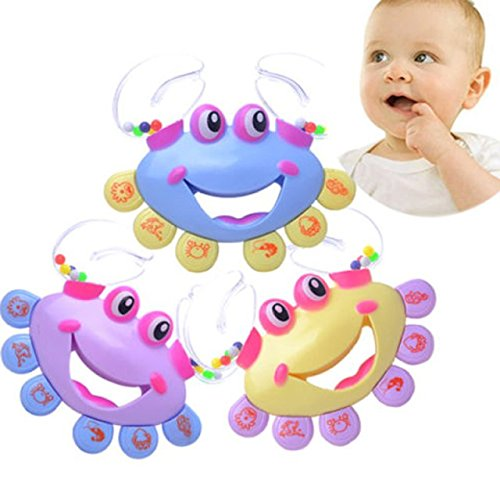 5 Packs Sealive New Enlightment Crab Shape Rattles for Babies Handbell Intelligence Baby Rattles Mobiles Toy Plastic,Chirstmas Birthday Presents Gifts For 0-2 Years Boys Girls (Personalized Elmo Gifts compare prices)