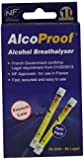 AlcoProof 92893 Alcohol Breathalyser, Set of 2