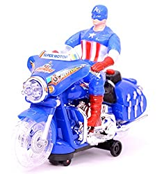 MERATOY.COM Battery Operated Captain America Bike