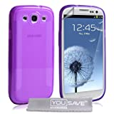 Samsung Galaxy S3 Silicone Gel Blade Case - Purpleby Yousave Accessories