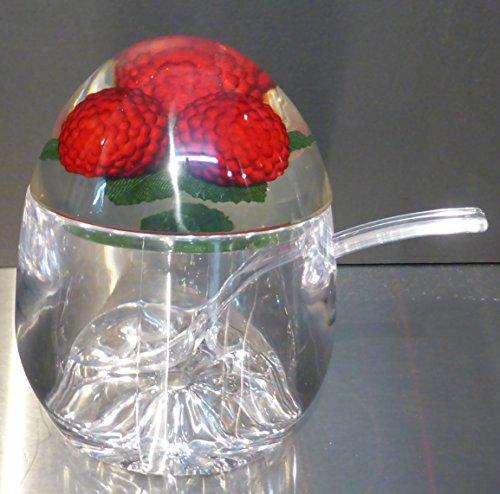 Pot à confiture avec cuillère-décoré Framboise