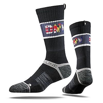 NFL Baltimore Ravens Adult DMV Strapped Fit 2.0 City Line Socks, One Size, Charcoal/Black