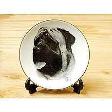 アメリカ製絵皿 マスチフ