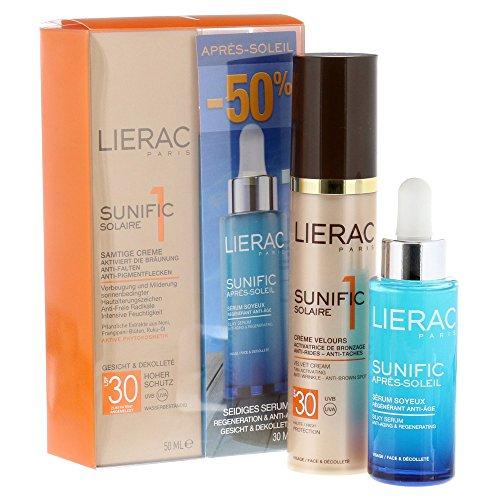 LIERAC - Scatola Sunific 1 solare SPF 30 50ml + siero 30ml Sunific doposole Lierac