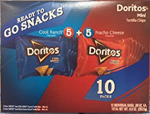 Amazon Com Doritos Mini Tortilla Chips Cool Ranch And