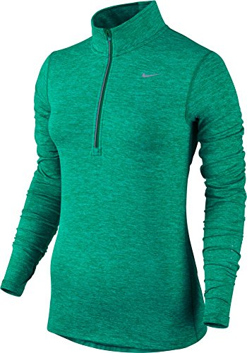 Nike Women's Dri-FIT? Element Half Zip Teal Charge/Heather/Reflective Silver T-Shirt MD