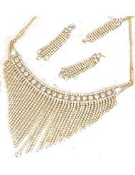 Elegant Elements Beautiful Elegant Bridal Zircon Stud Necklace Set For Women EEN16